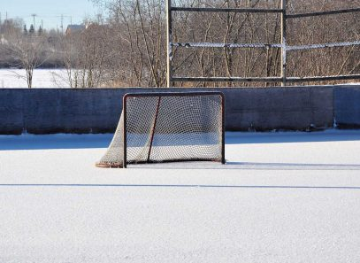Hockey-Rink in snow