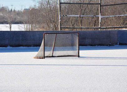 Hockey-Rink in snow