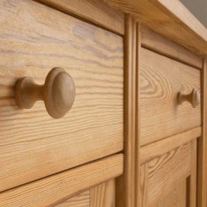 wooden drawer with knobs