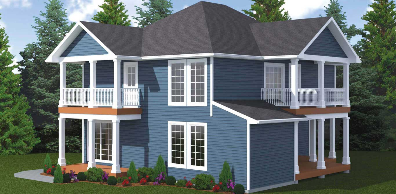 1741 sq.ft. timber mart house 3 bed 2.5 bath exterior render