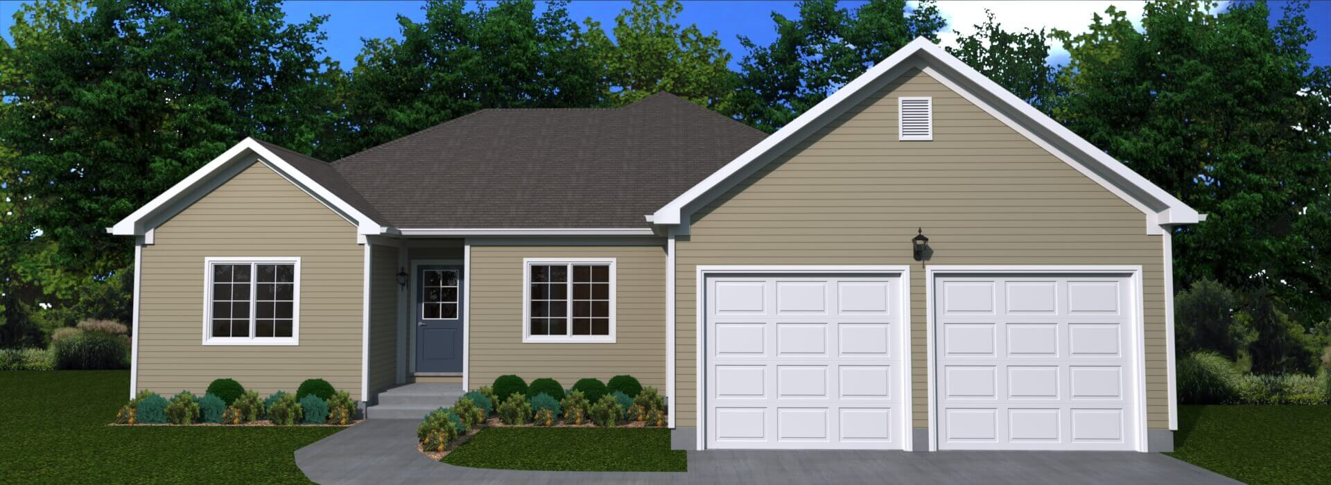 1758 sq.ft. timber mart house 3 bed 2.5 bath exterior render