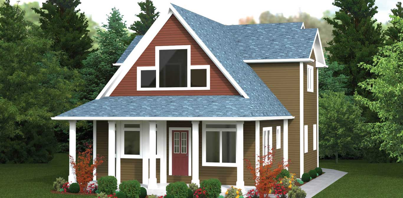1909 sq.ft. timber mart house 4 bed 3.5 bath exterior render