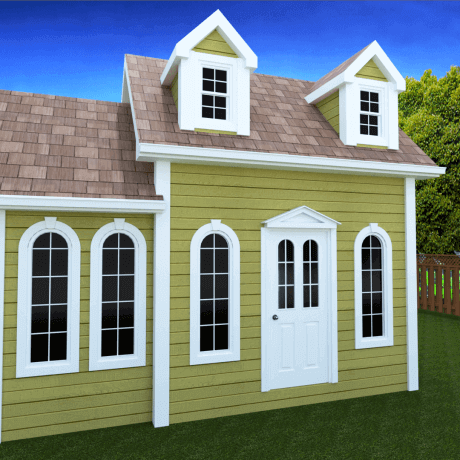 178 sq.ft. timber mart shed with arched windows