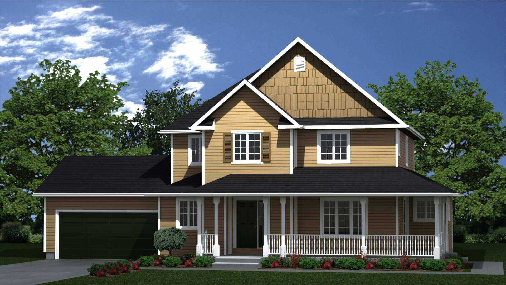2125 sq.ft. timber mart house 3 bed 3 bath exterior render