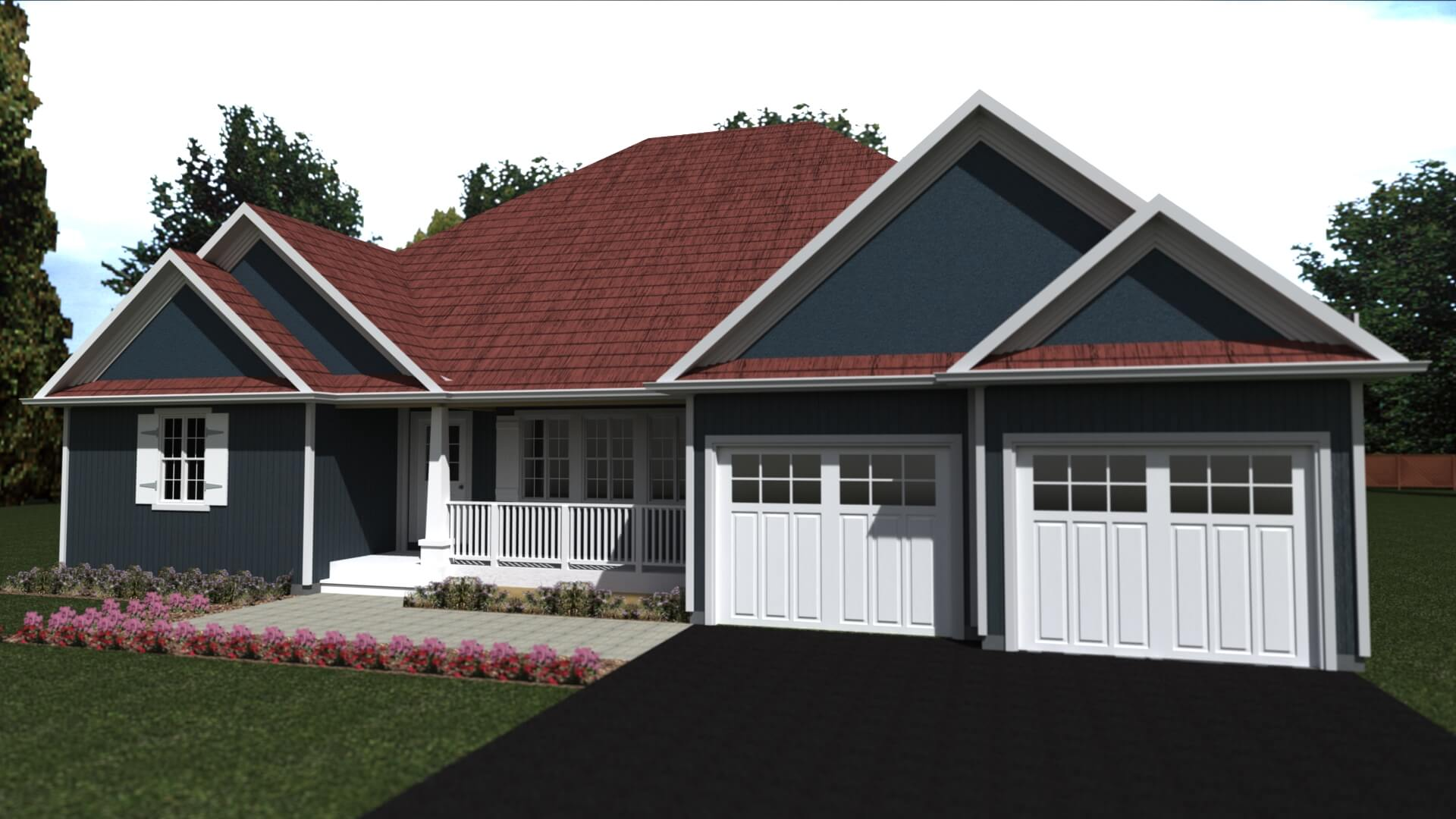 2316 sq.ft. timber mart house 3 bed 2 bath exterior render