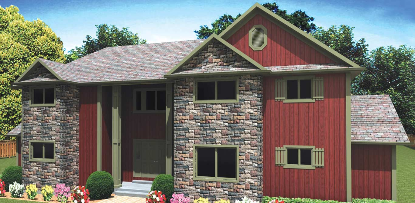 22 sq.ft. timber mart house 3 bed 3.5 bath exterior render
