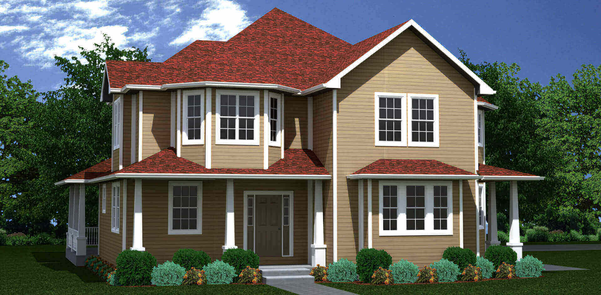 2746 sq.ft. timber mart house 4 bed 4 bath exterior render