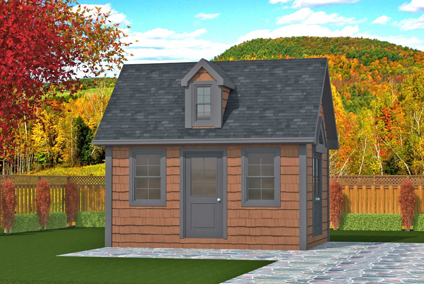 192 sq.ft. timber mart shed with two doors