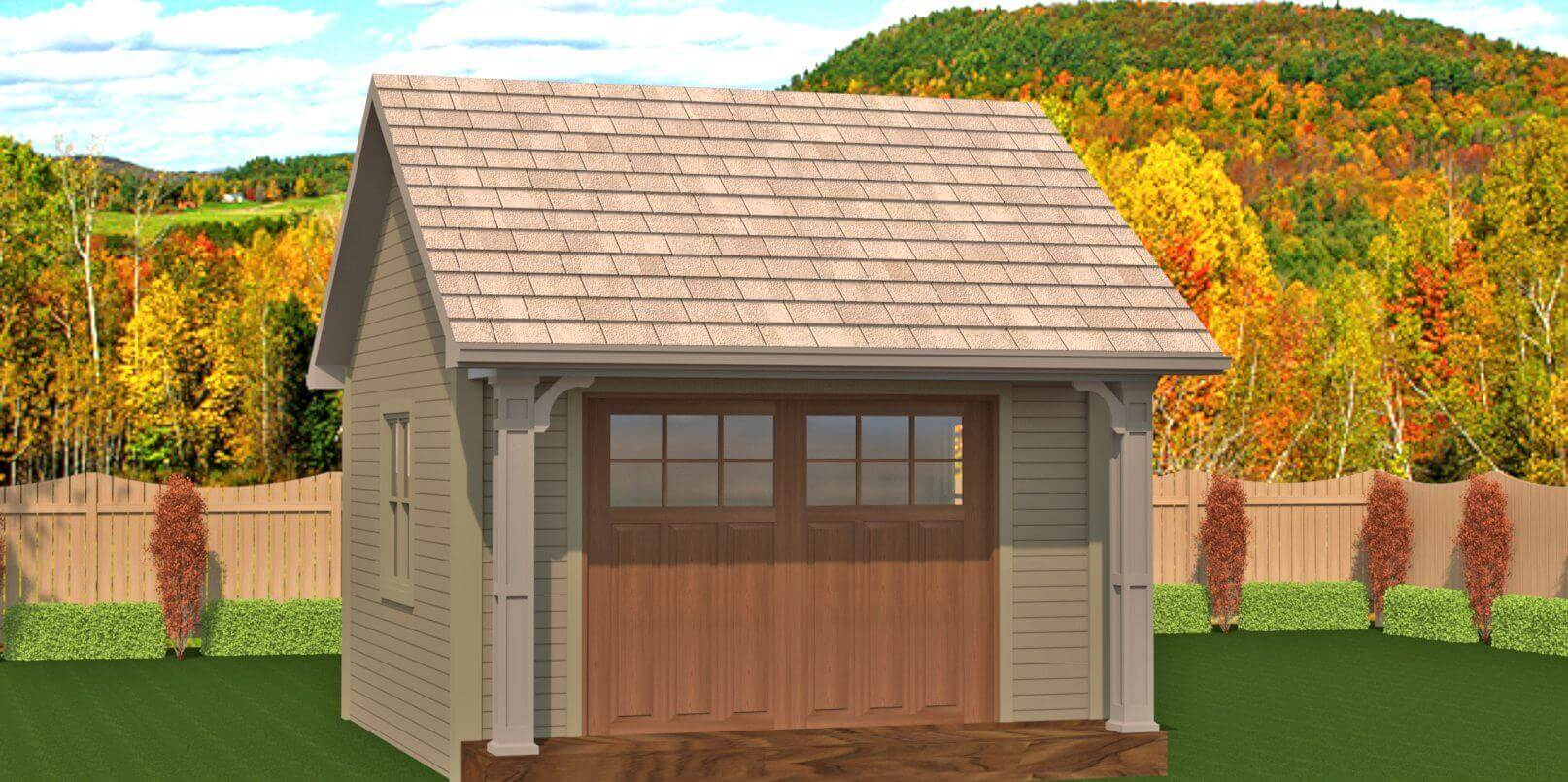 196 sq.ft. timber mart shed with sliding door