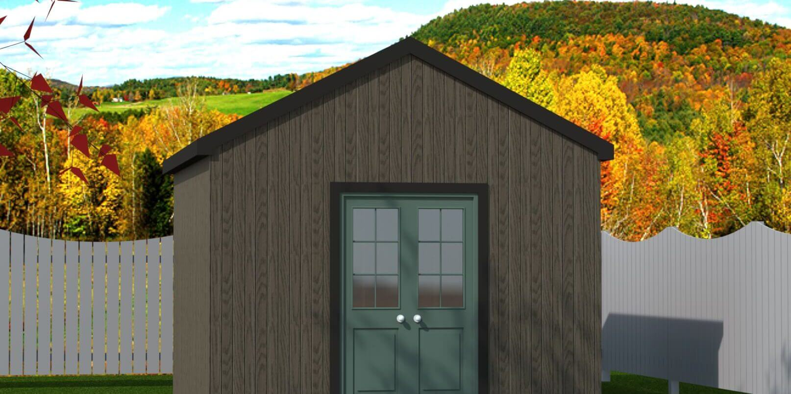 144 sq.ft. timber mart shed with french door