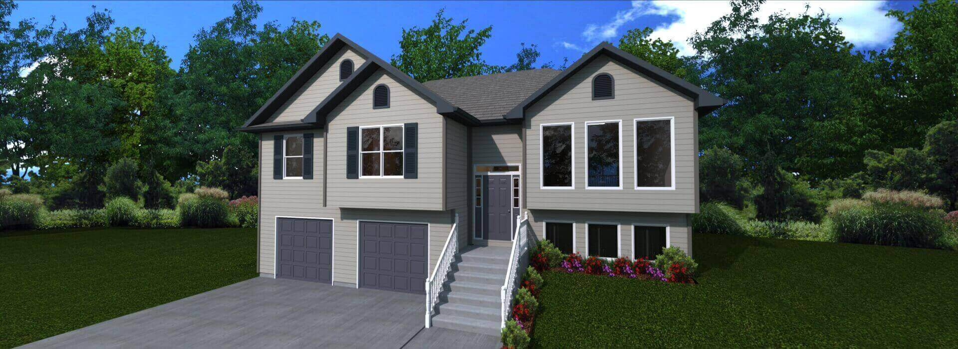 1790 sq.ft. timber mart house 3 bed 3 bath exterior render