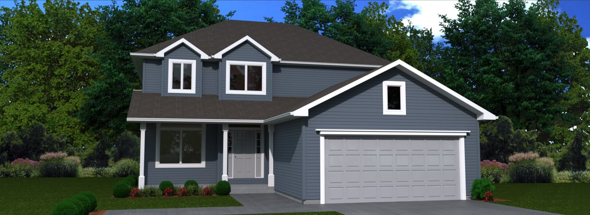 1812 sq.ft. timber mart house 3 bed 2.5 bath exterior floor plan