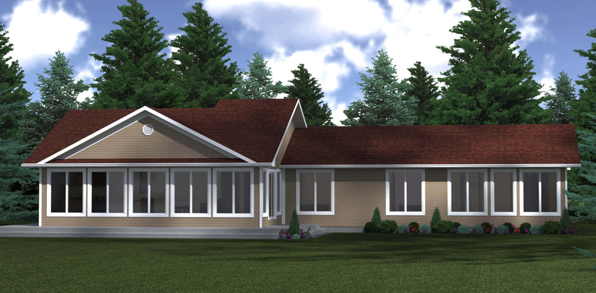 1826 sq.ft. timber mart house exterior rendering