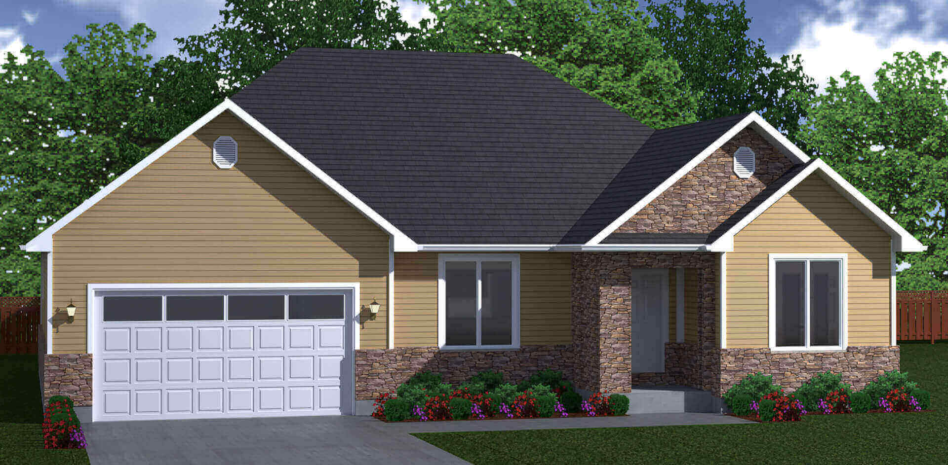 1851 sq.ft. timber mart house 3 bed 2 bath exterior render
