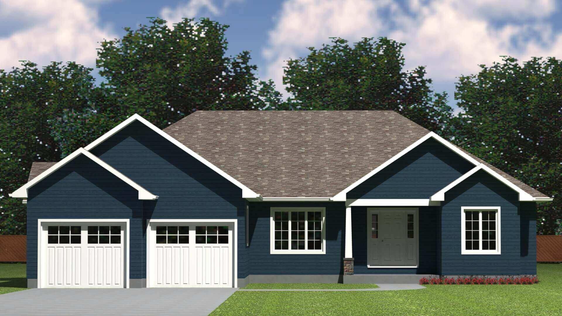1893 sq.ft. timber mart house 3 bed 2 bath exterior render