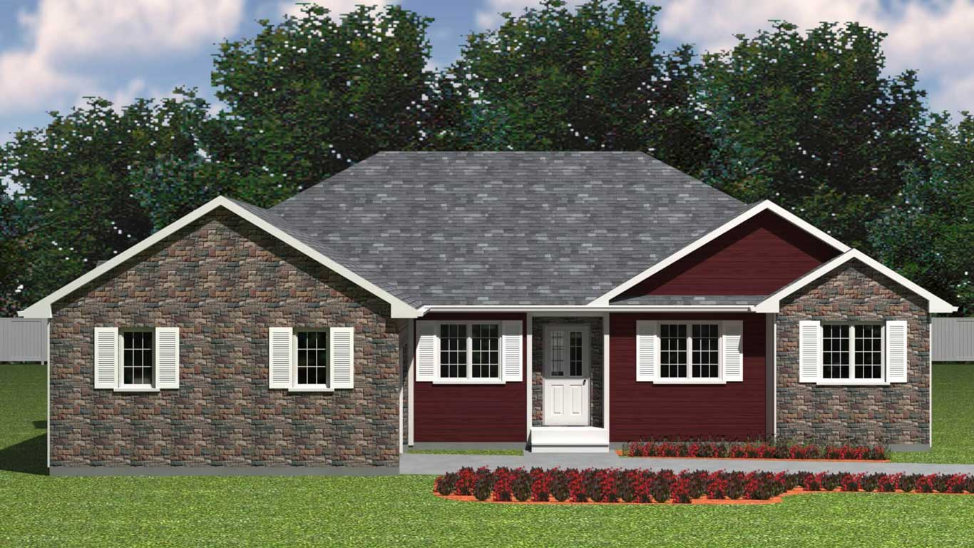 1914 sq.ft. timber mart house 3 bed 2 bath exterior render
