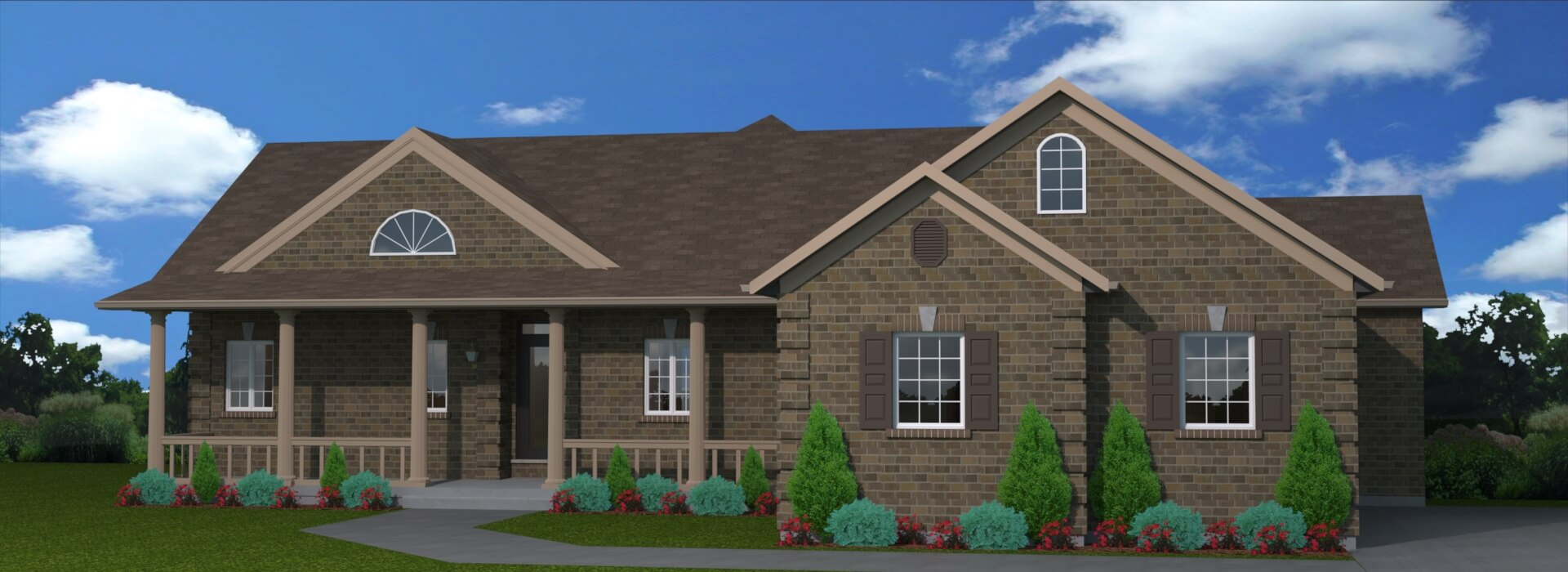 1918 sq.ft. timber mart house 3 bed 3 bath exterior render