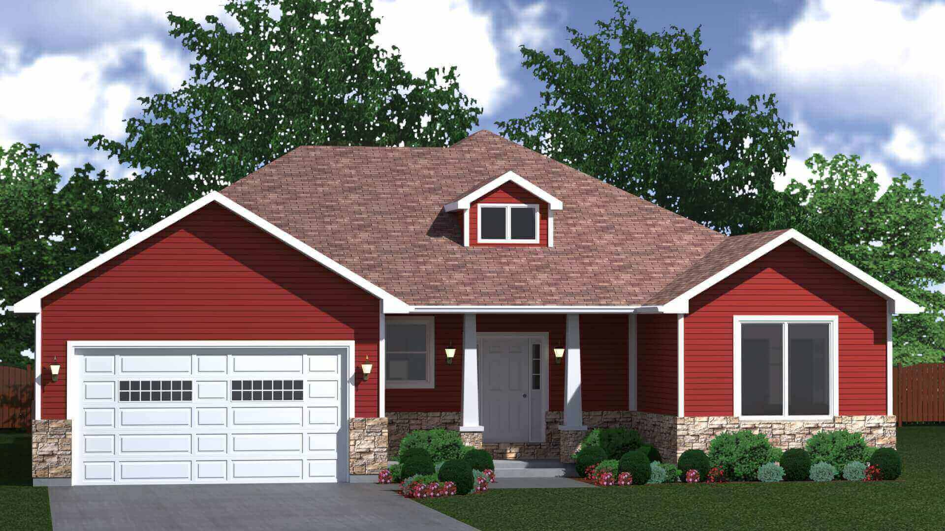 1945 sq.ft. timber mart house 3 bed 2 bath exterior render