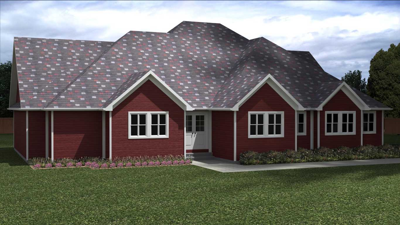 1960 sq.ft. timber mart house 3 bed 2 bath exterior render