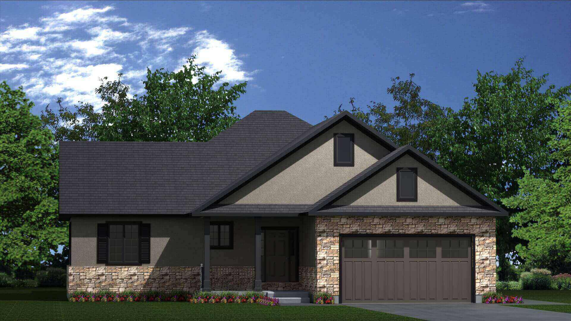 1971 sq.ft. timber mart house 3 bed 2 bath exterior render