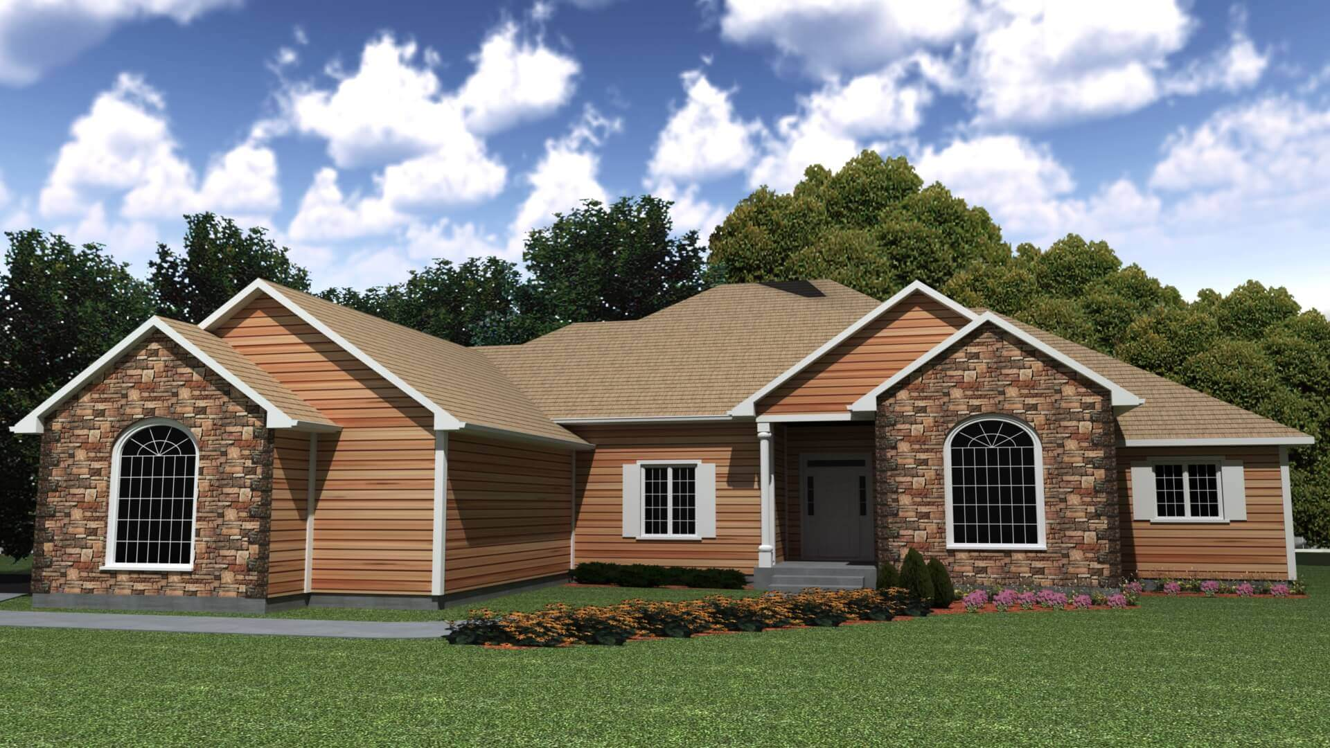 2642 sq.ft. timber mart house 3 bed 3 bath exterior render