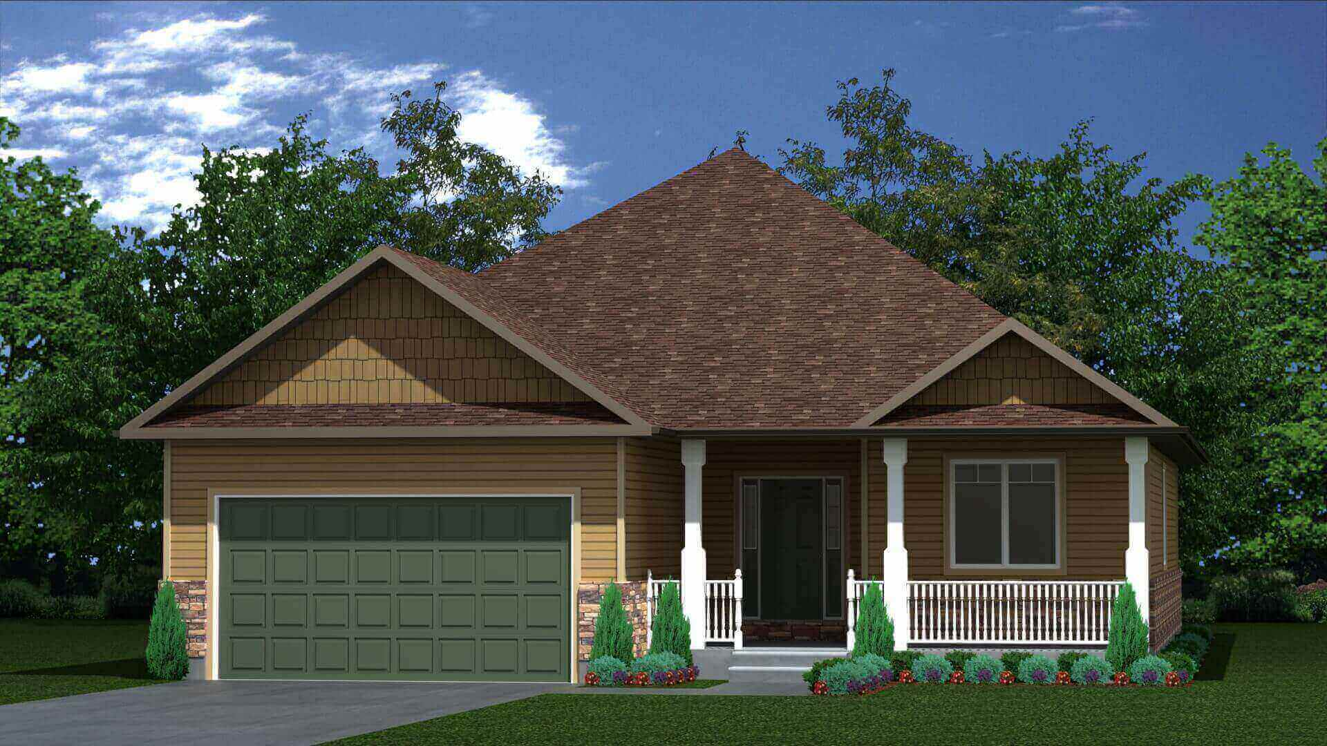 2002 sq.ft. timber mart house 3 bed 3 bath exterior render