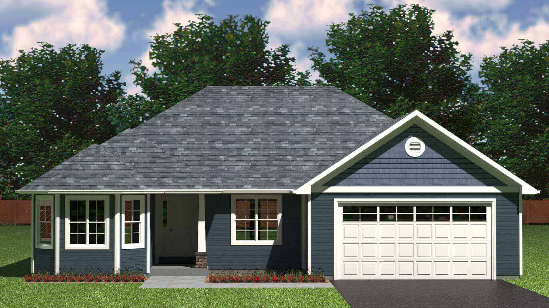 2081 sq.ft. timber mart house 3 bed 2 bath exterior render