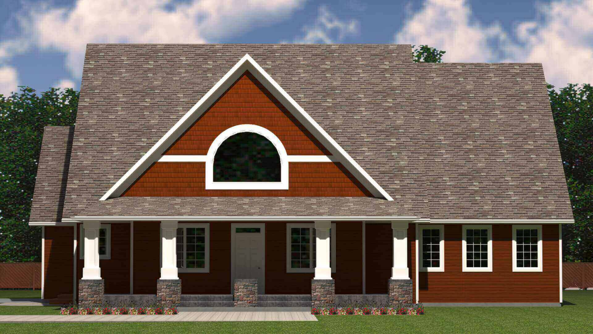 2152 sq.ft. timber mart house 3 bed 2 bath exterior render