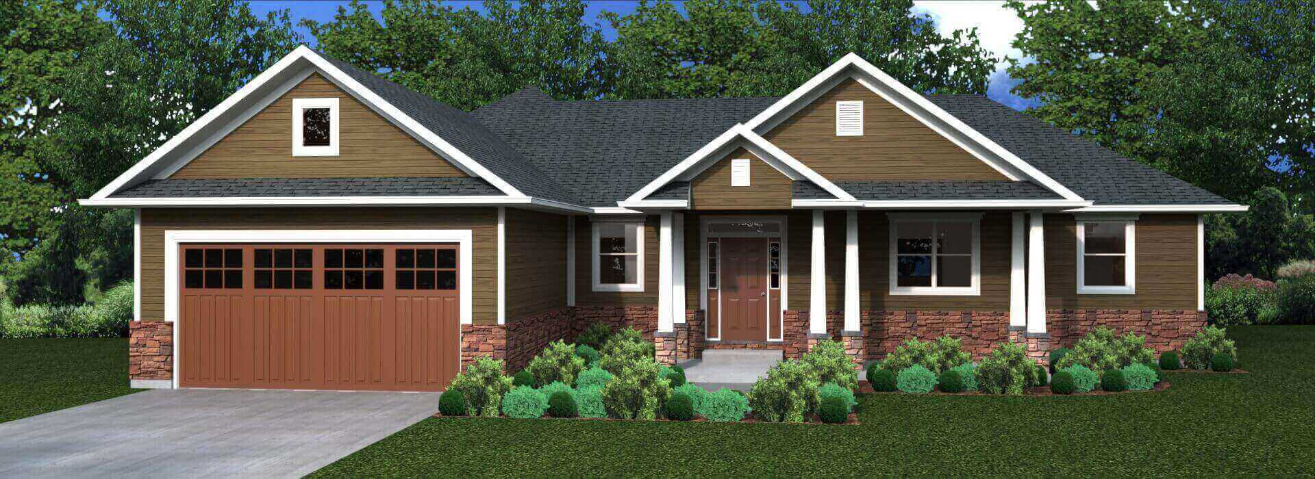 2160 sq.ft. timber mart house 3 bed 2 bath exterior render