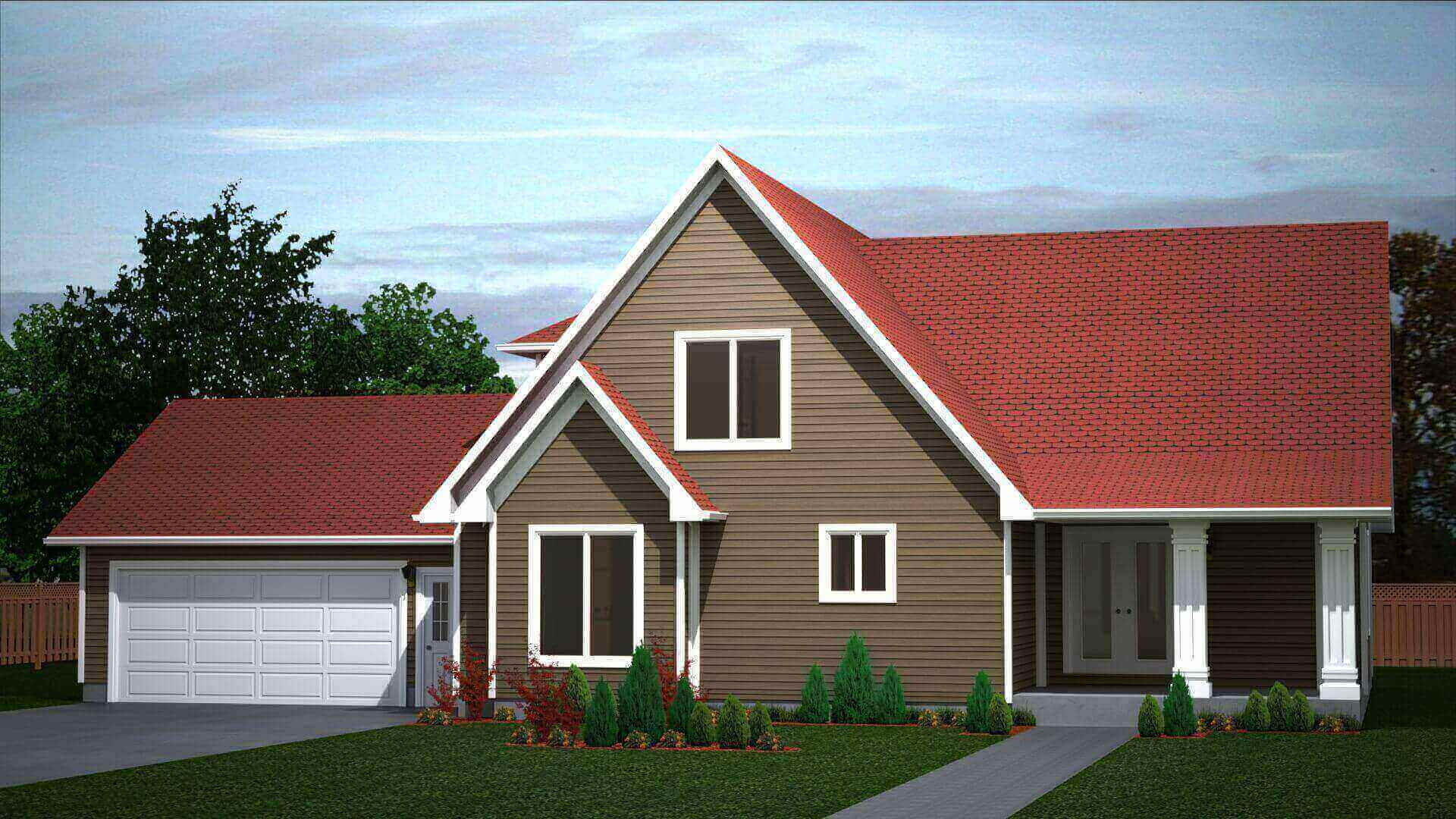 2210 sq.ft. timber mart house 4 bed 3 bath exterior render