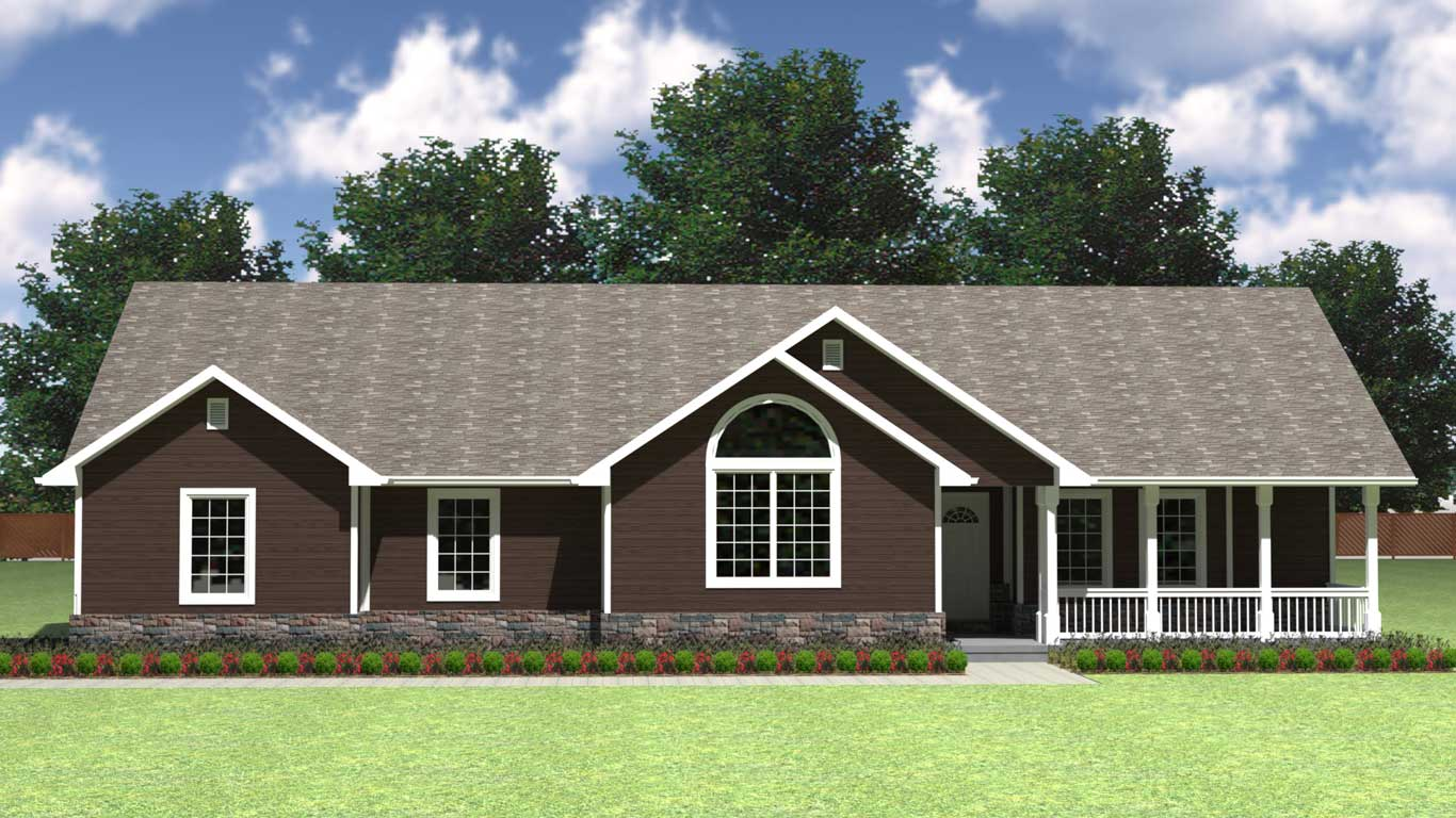 2240 sq.ft. timber mart house 3 bed 2 bath exterior render