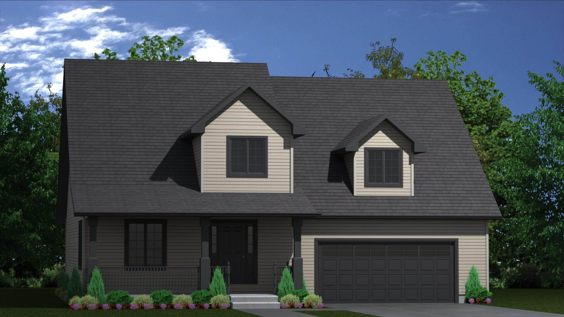 2278 sq.ft. timber mart house 3 bed 3 bath exterior render