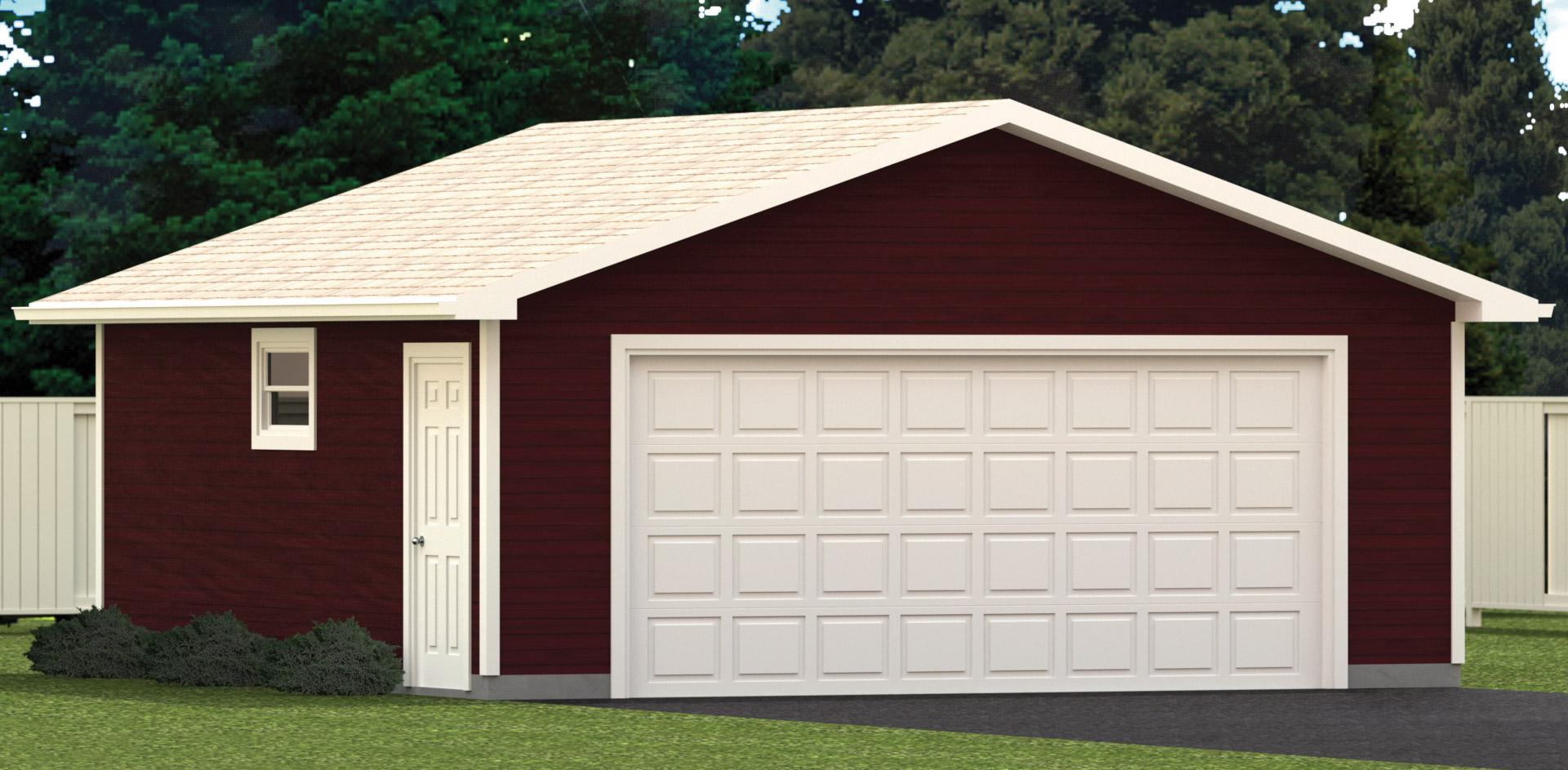 22 x 22 garage exterior render