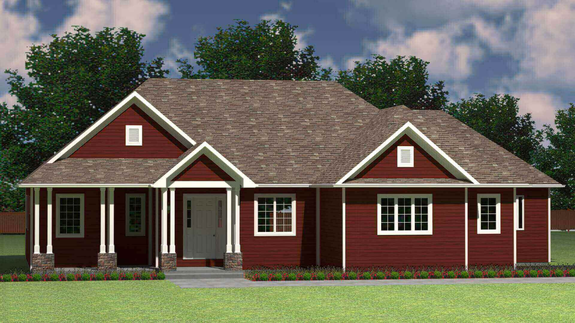 2317 sq.ft. timber mart house 3 bed 2 bath exterior render