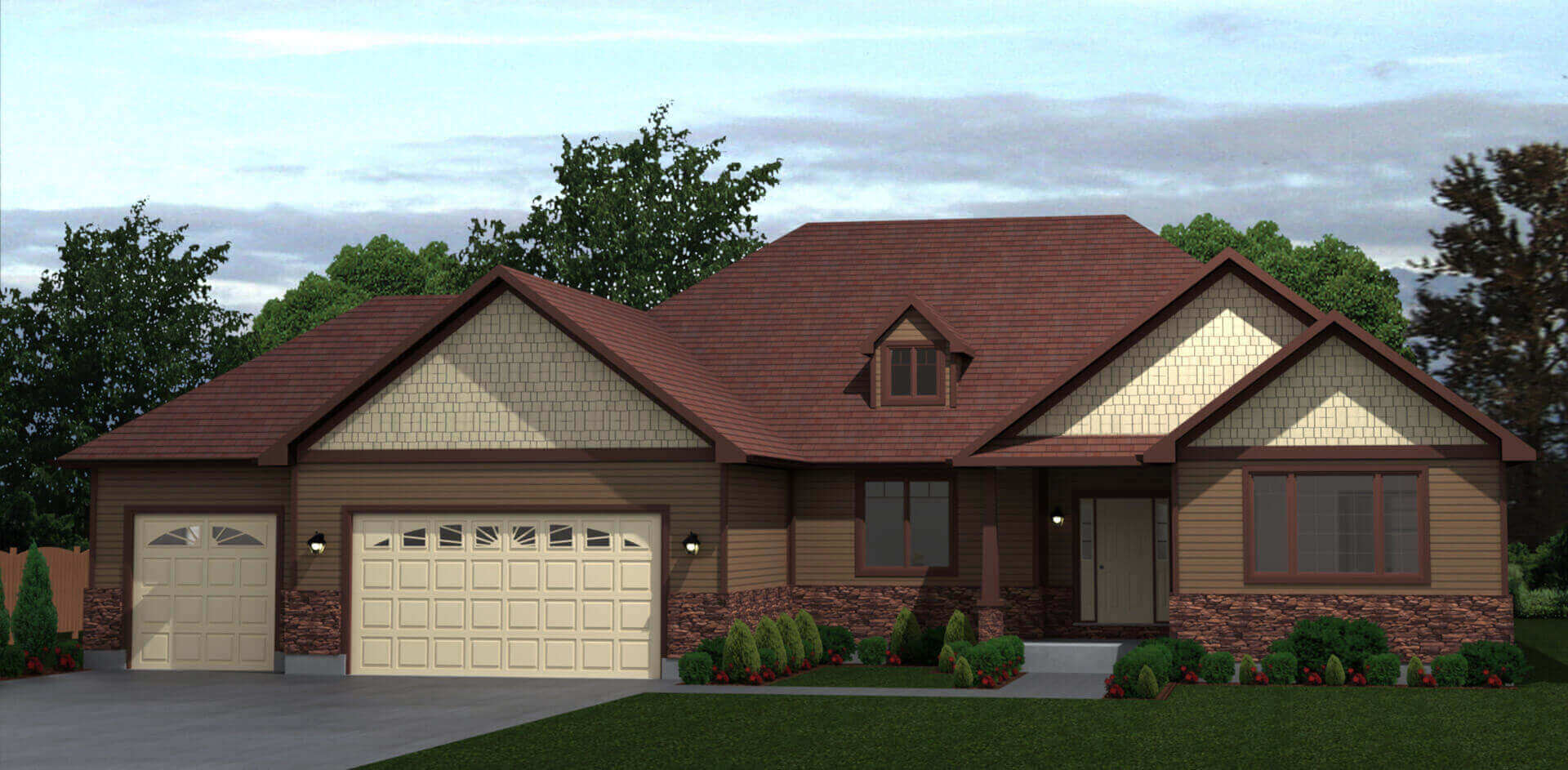 359 sq.ft. timber mart house 3 bed 2 bath exterior render