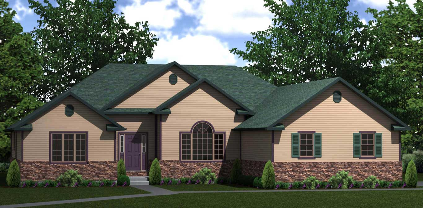 2423 sq.ft. timber mart house 4 bed 2 bath exterior render