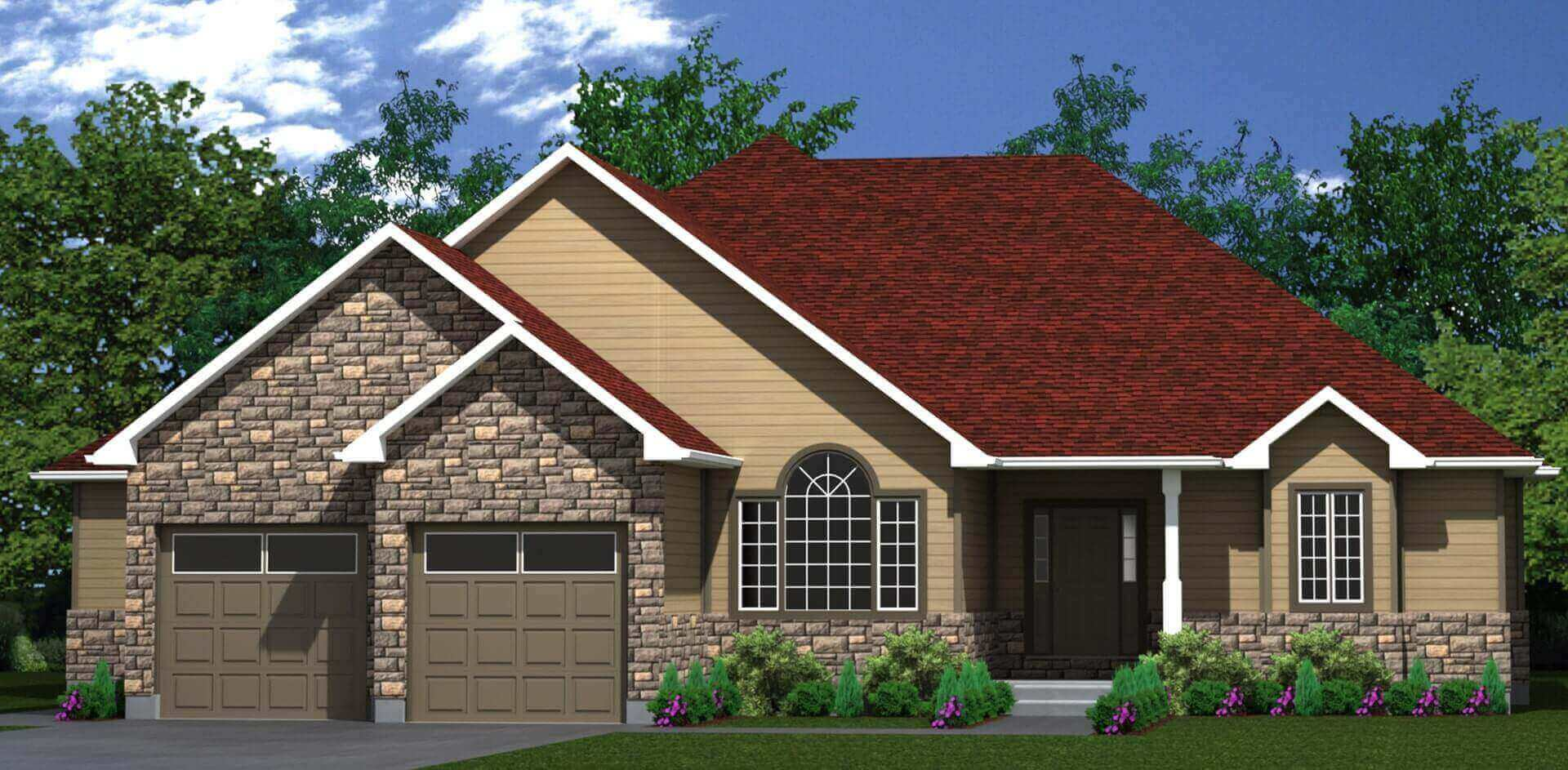 2567 sq.ft. timber mart house 3 bed 3 bath exterior render