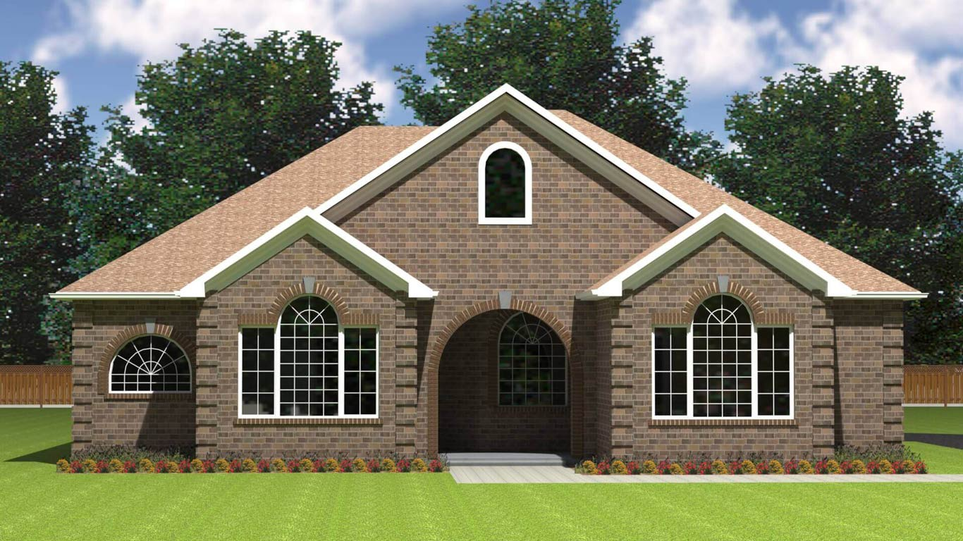 2613 sq.ft. timber mart house 3 bed 3 bath exterior render