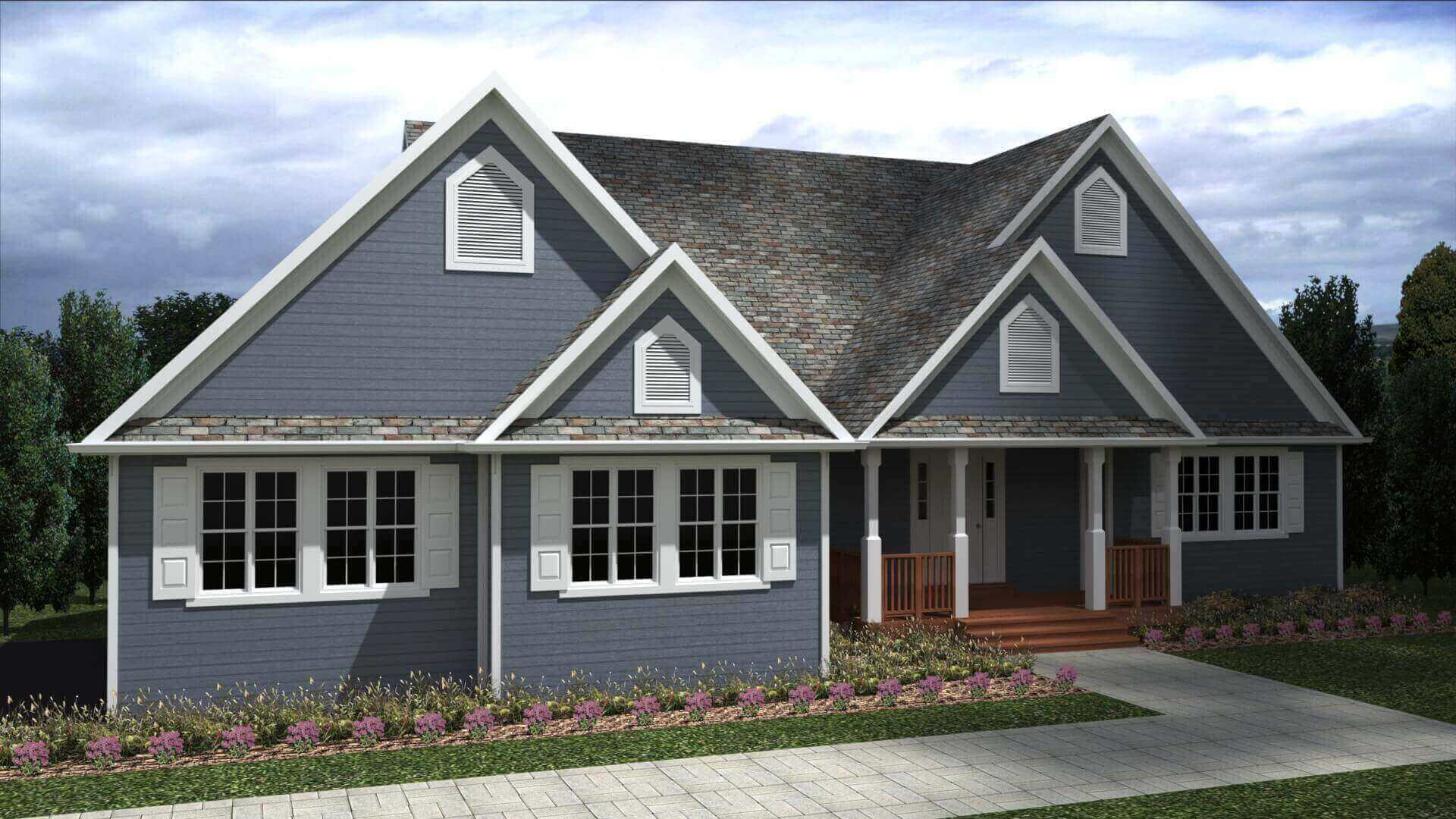 2618 sq.ft. timber mart house 3 bed 4 bath exterior render