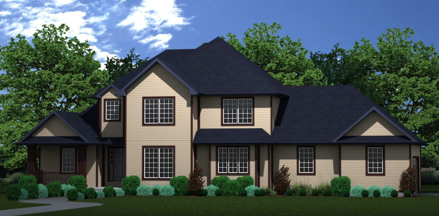 2661 sq.ft. timber mart house exterior rendering