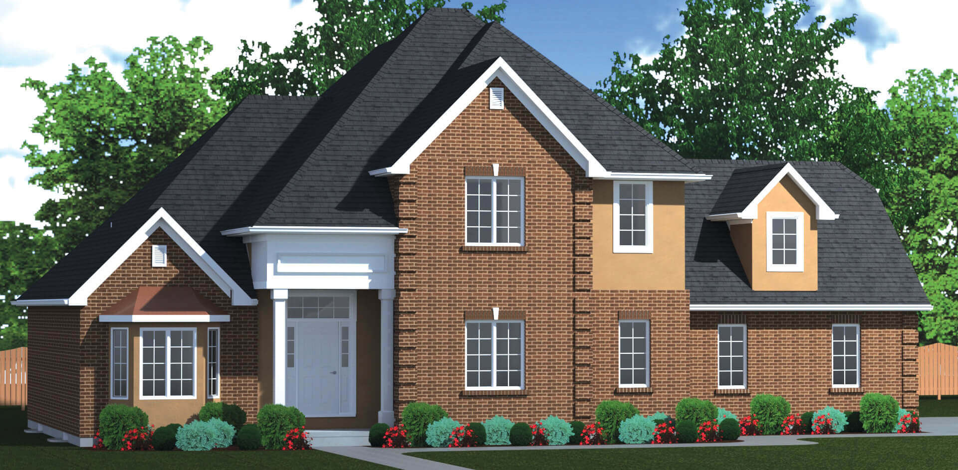 2692 sq.ft. timber mart house 3 bed 2.5 bath exterior render