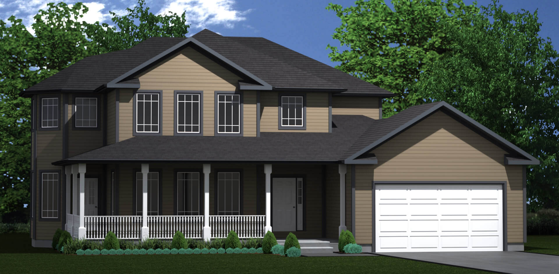 2727 sq.ft. timber mart house 4 bed 3 bath exterior render