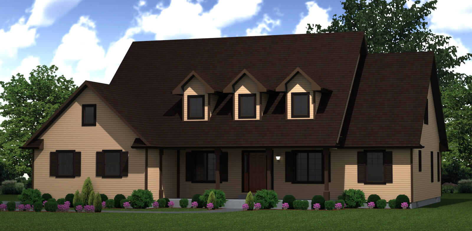 2798 sq.ft. timber mart house 4 bed 3 bath exterior render
