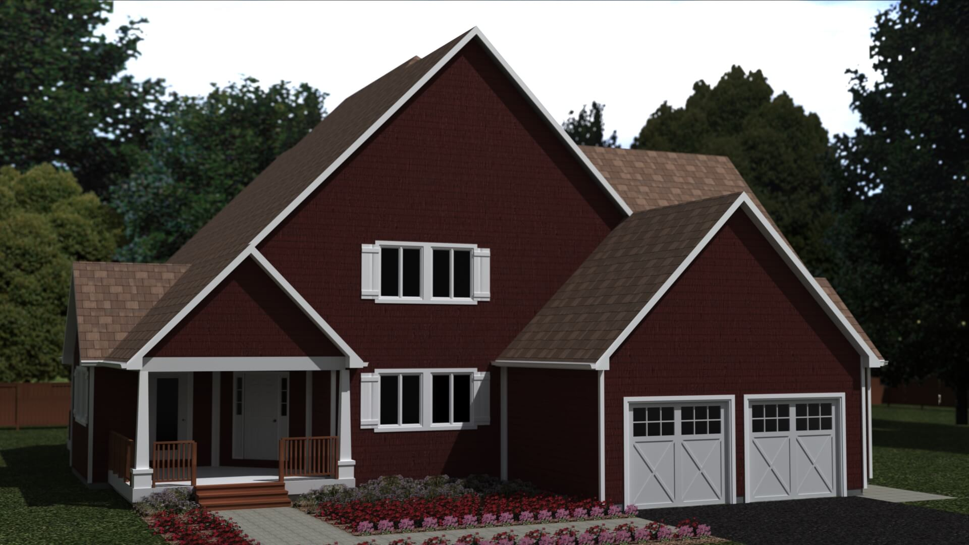 2863 sq.ft. timber mart house 4 bed 3 bath exterior render