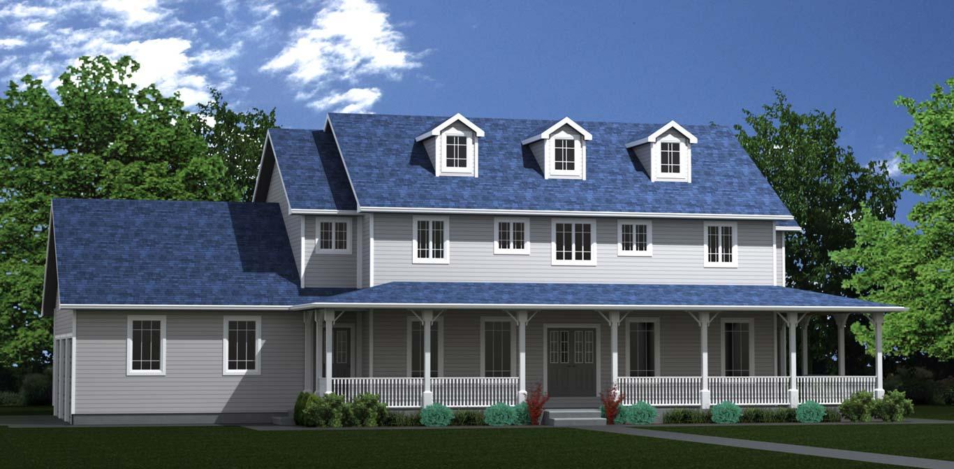 2878 sq.ft. timber mart house 4 bed 3 bath exterior render