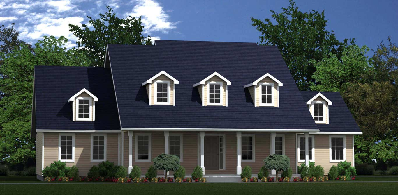2891 sq.ft. timber mart house 4 bed 4 bath exterior render