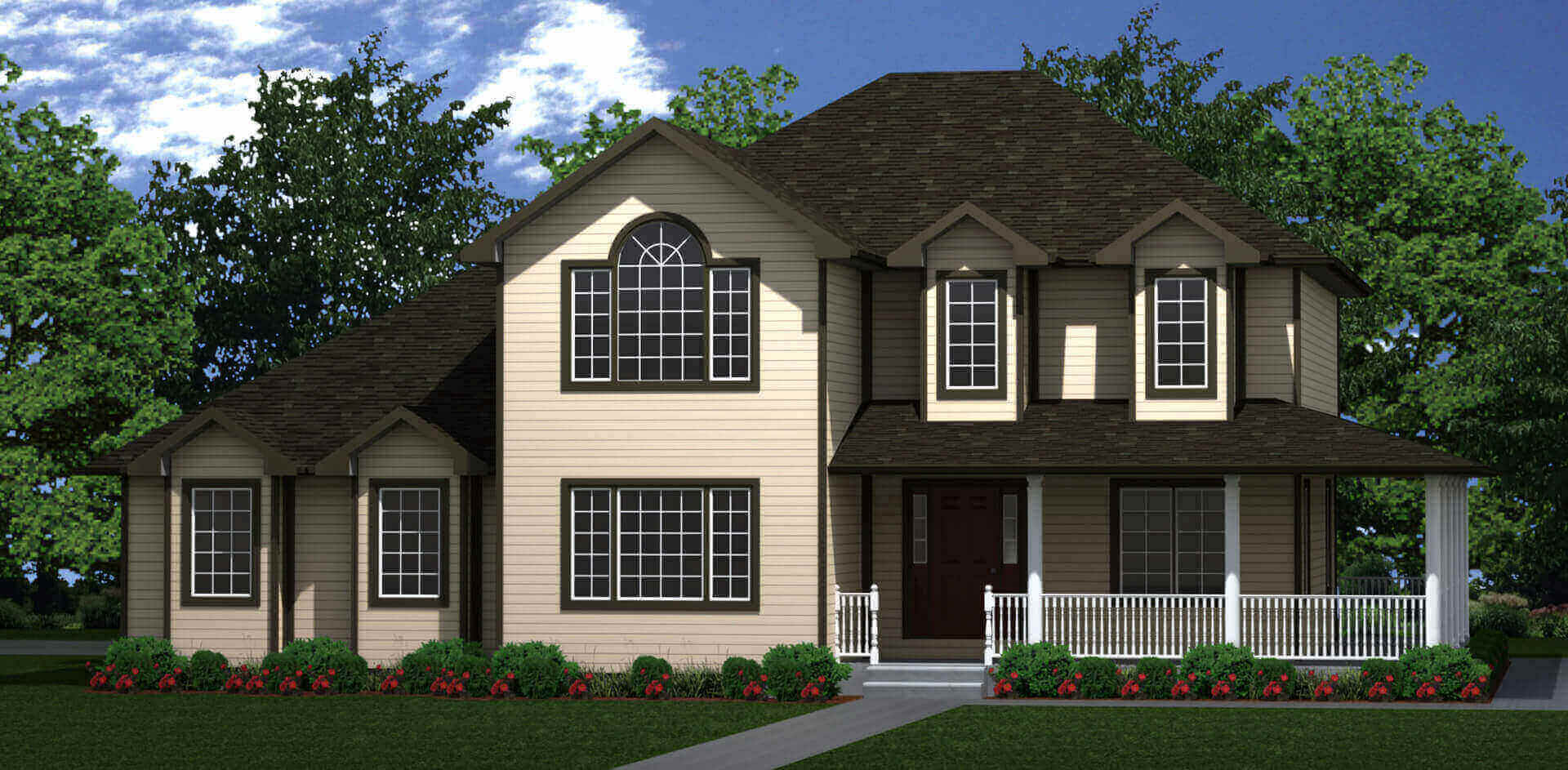 2927 sq.ft. timber mart house 4 bed 4 bath exterior render