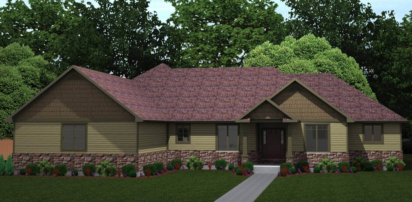 2942 sq.ft. timber mart house 3 bed 3 bath exterior render