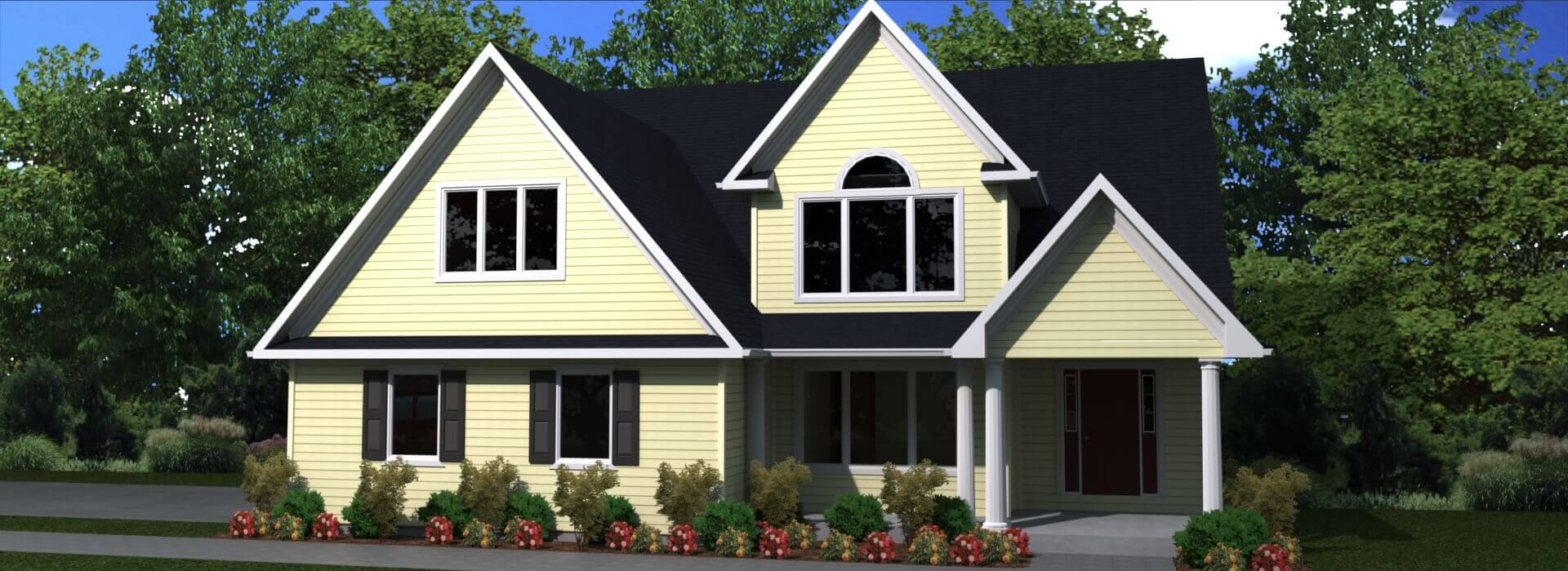 2195 sq.ft. timber mart house 3 bed 2.5 bath exterior render