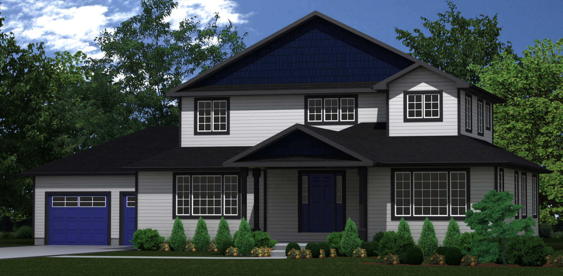 3064 sq.ft. timber mart house 4 bed 4 bath exterior render